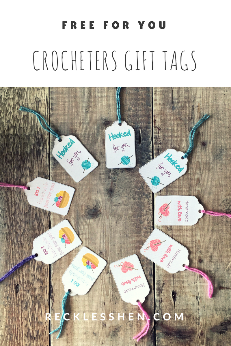 free Hooked For You gift tags