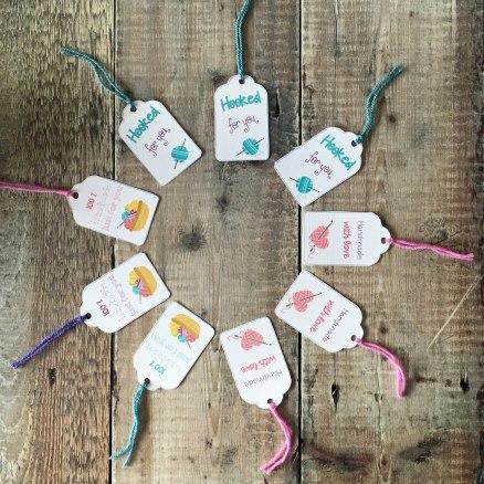 Crochet gift tags