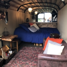 Myrtle the glamping truck at Larchfield Estate by RecklessHen