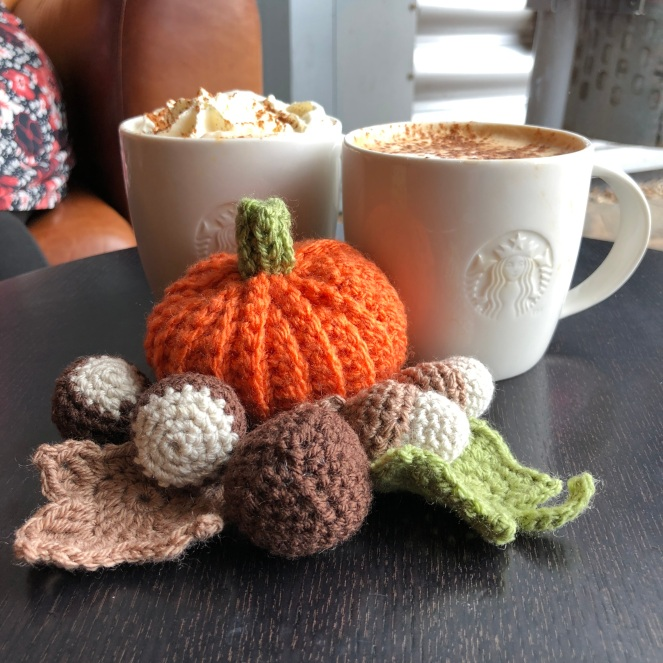Autumnal crocheted props