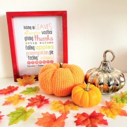 Wordart & Crocheted Pumpkin by RecklessHen