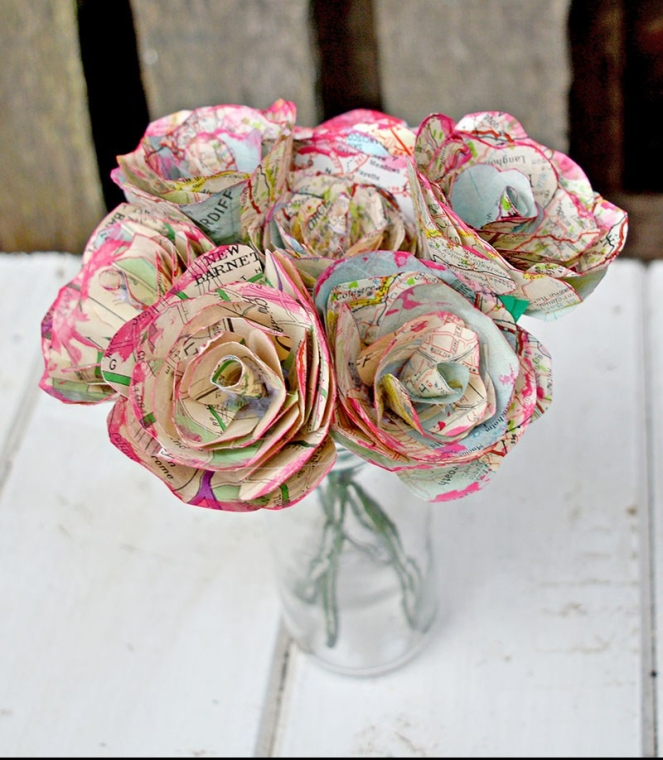 Map Roses from Pillar Box Blue