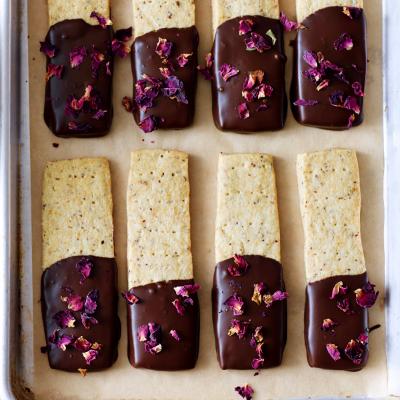 Rose & Dark Chocolate Shortbread from Waitrose